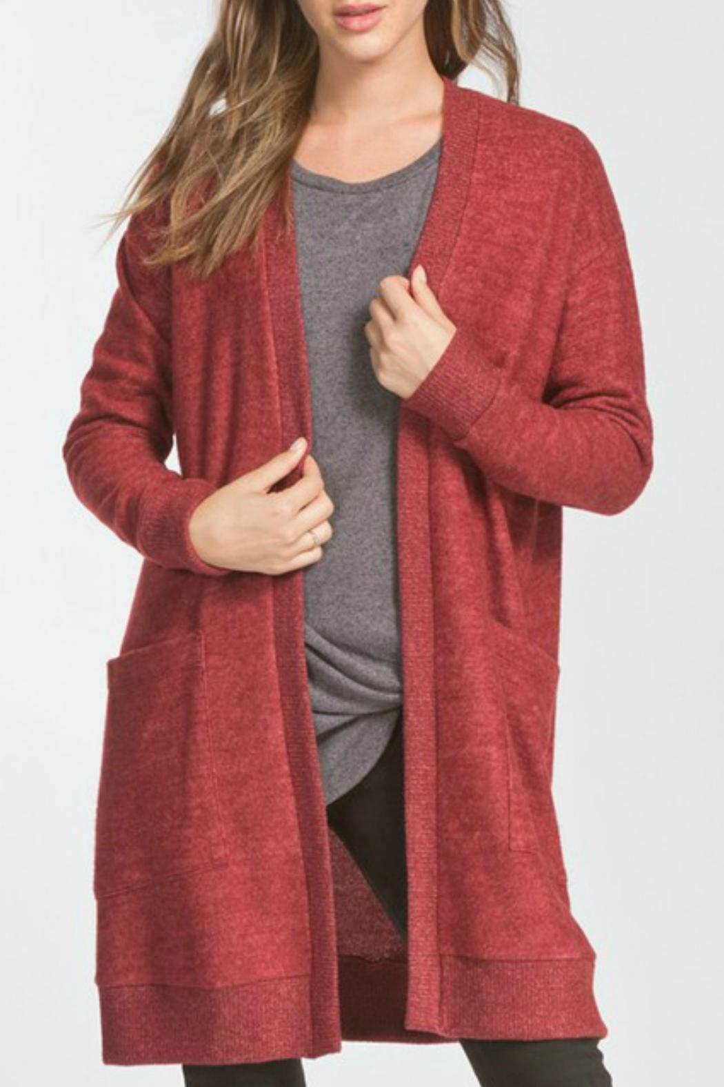 Cherish Naya Burgundy Cardigan - Main Image