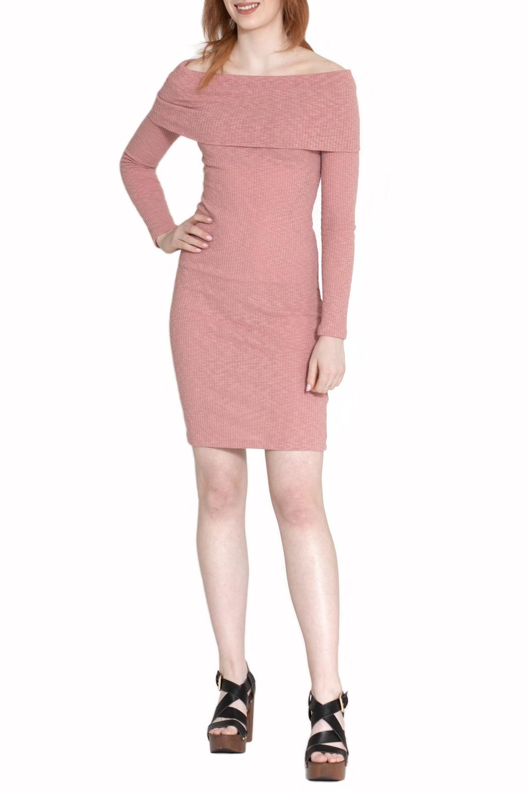 Cherish Off-Shoulder Bodycon Dress - Main Image