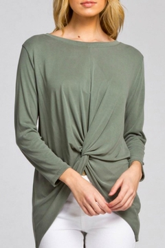 Shoptiques Product: Olive High Low Top