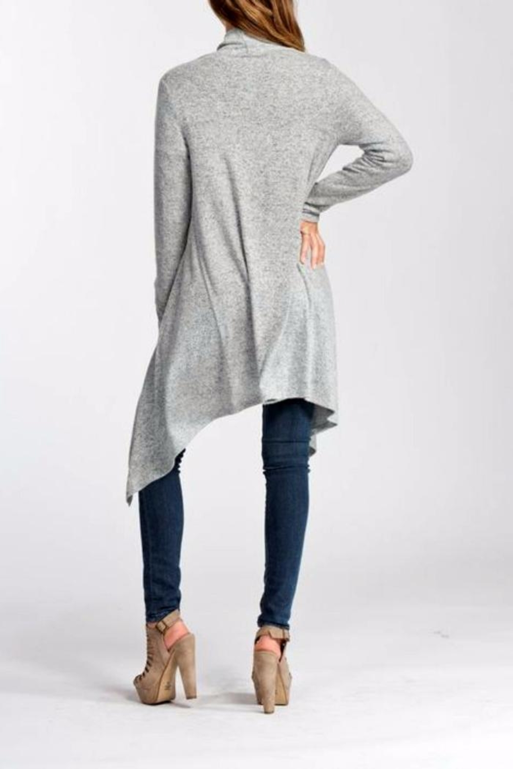 Cherish One-Button Wrap Cardigan - Front Full Image