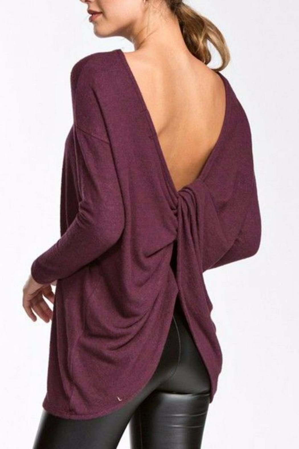 Cherish Open Back Top - Front Cropped Image