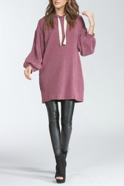 Cherish Over-Sized Corduroy Hoodie - Side cropped