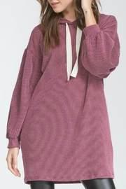 Cherish Over-Sized Corduroy Hoodie - Front cropped