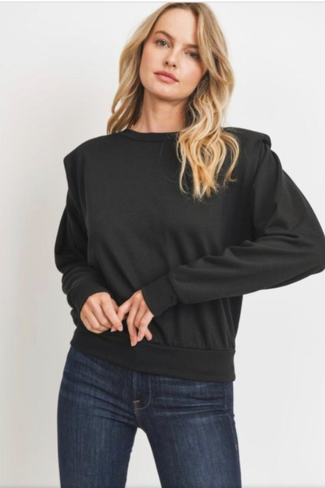 Cherish Padded Shoulder Top - Main Image