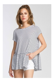Cherish Peplum Top - Front cropped