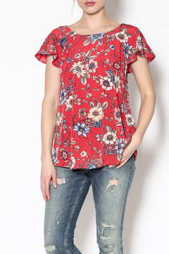 Shoptiques Product: Red Floral Top