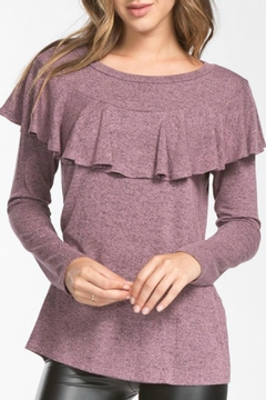 Shoptiques Product: Ruffle Detail Sweater