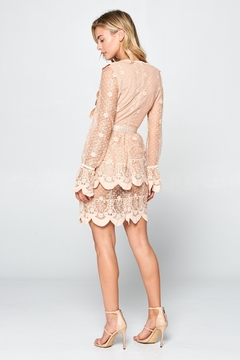 Racine Cherish Scallop-Lace Minidress - Alternate List Image