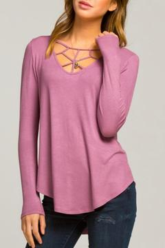Shoptiques Product: Sexy Neckline Long Sleeve