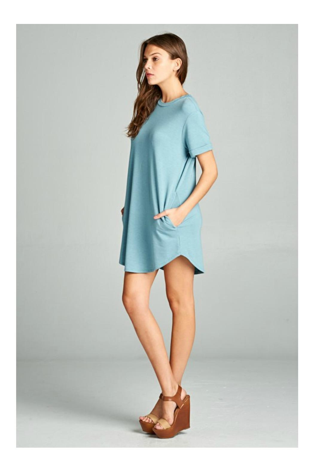 Cherish Short Sleeve Dress - Front Full Image