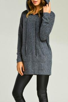 Shoptiques Product: Grey Hoodie Tunic