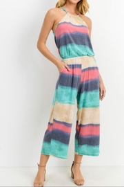 Cherish Stripe Culotte Jumpsuit - Product Mini Image