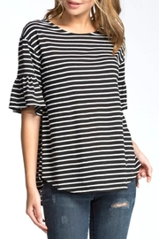 Cherish Striped Bell-Sleeve Top - Product Mini Image
