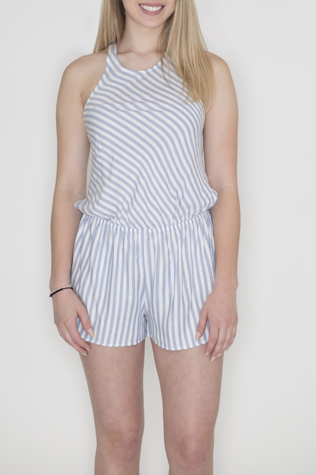 Cherish Striped Crisscross Romper - Main Image
