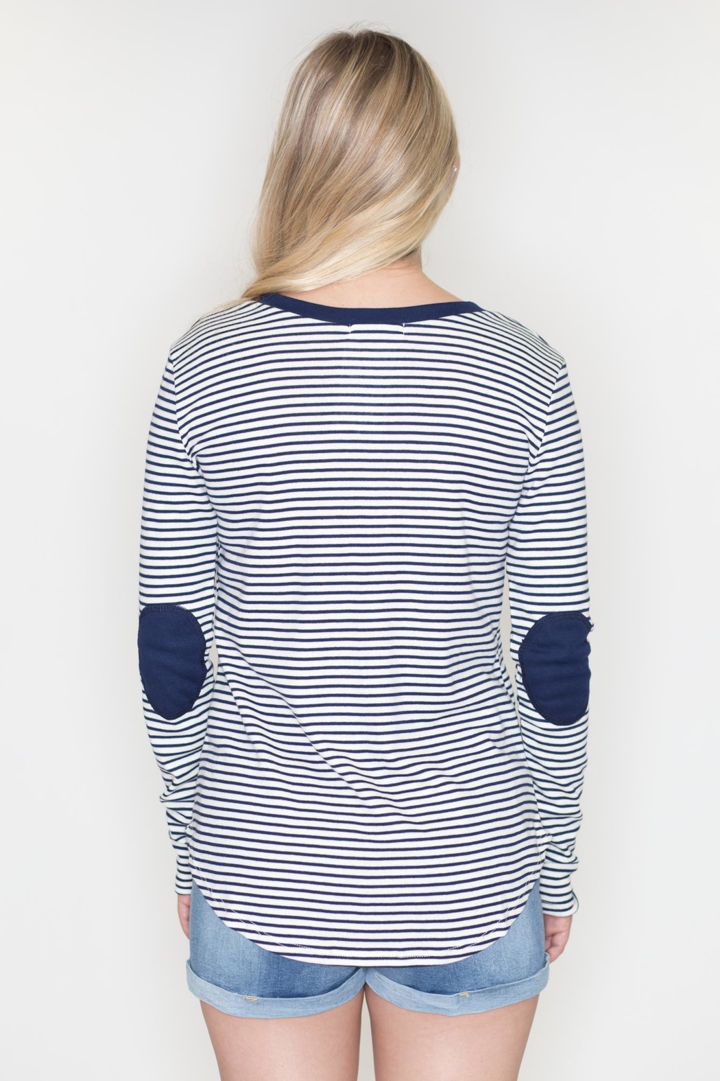 Cherish Striped Patch Top - Side Cropped Image