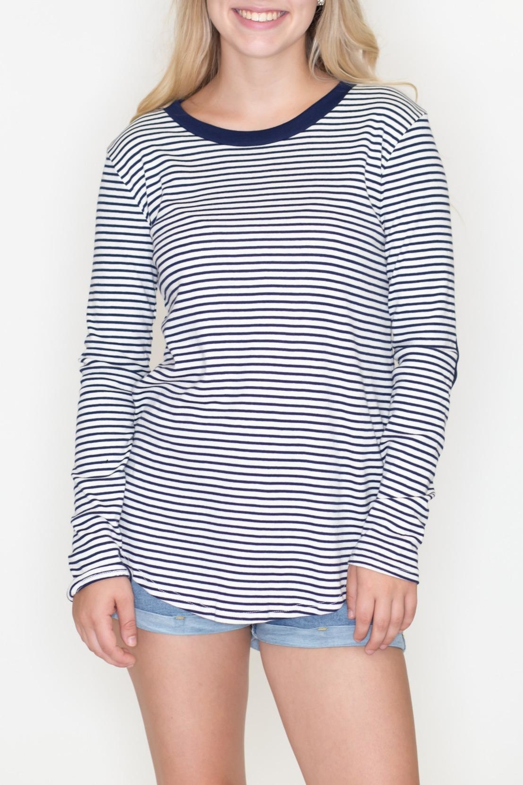 Cherish Striped Patch Top - Main Image