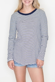 Cherish Striped Patch Top - Product Mini Image