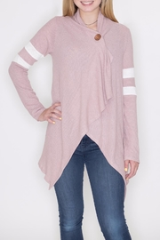 Cherish Striped Wrap Cardigan - Product Mini Image
