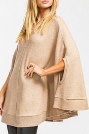 Cherish Taupe Poncho Sweater - Front full body