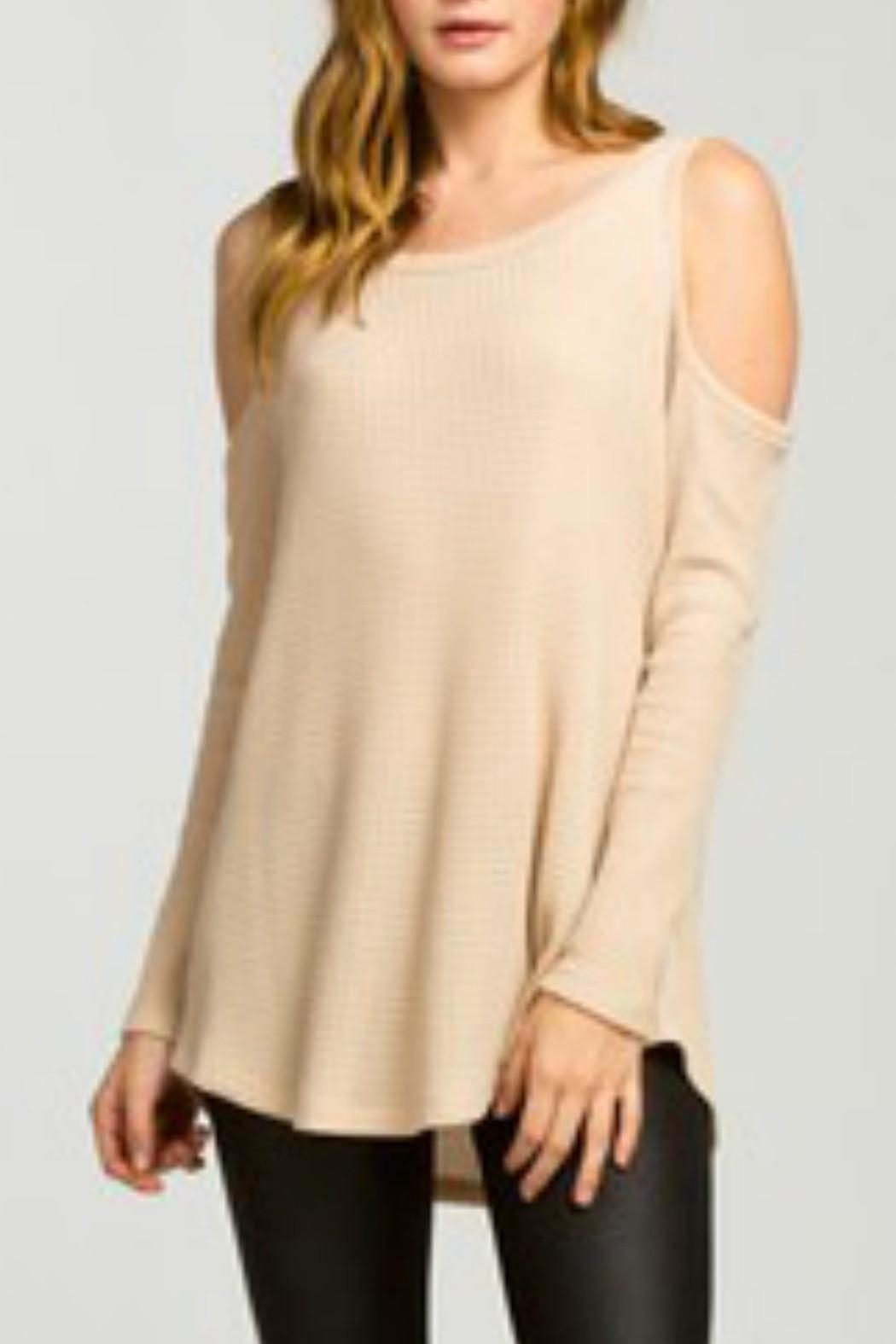 Cherish Taupe Thermal Top - Main Image