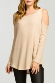 Cherish Taupe Thermal Top - Front cropped