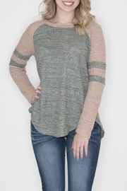 Cherish Thermal Raglan Top - Product Mini Image