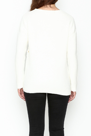 Cherish Thermal Side Tie Sweater - Back cropped