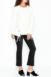 Cherish Thermal Side Tie Sweater - Side cropped