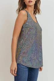 Cherish Wave-Sequins Sleeveless Top - Front full body