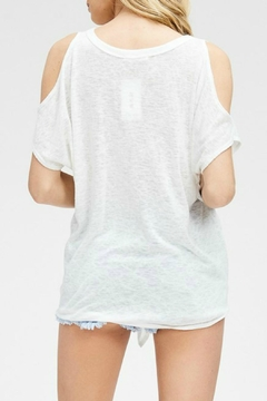 Cherish White Cold-Shoulder Top - Alternate List Image