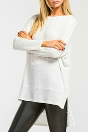 Cherish White Knit Top - Product Mini Image