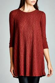 Cherish USA Rib Knit Tunic - Product Mini Image