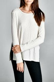 Cherish USA Ribbed Knit Top - Front cropped