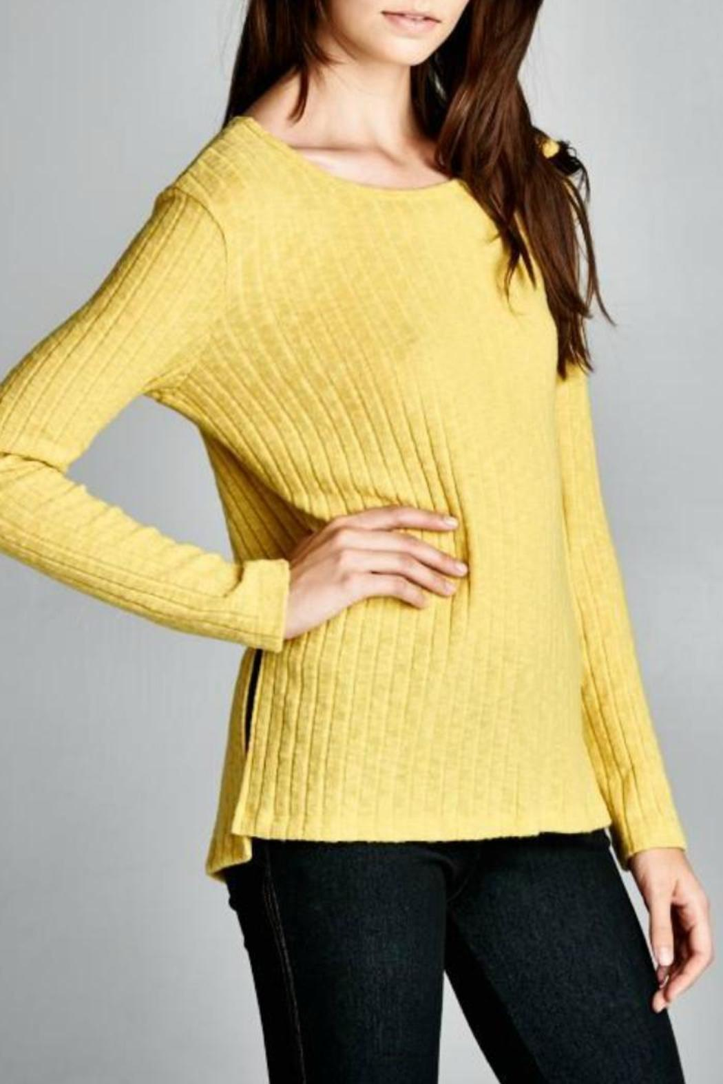 Cherish USA Ribbed Knit Top - Front Cropped Image