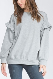 Cherish USA Ruffle Sleeve Sweater - Front cropped