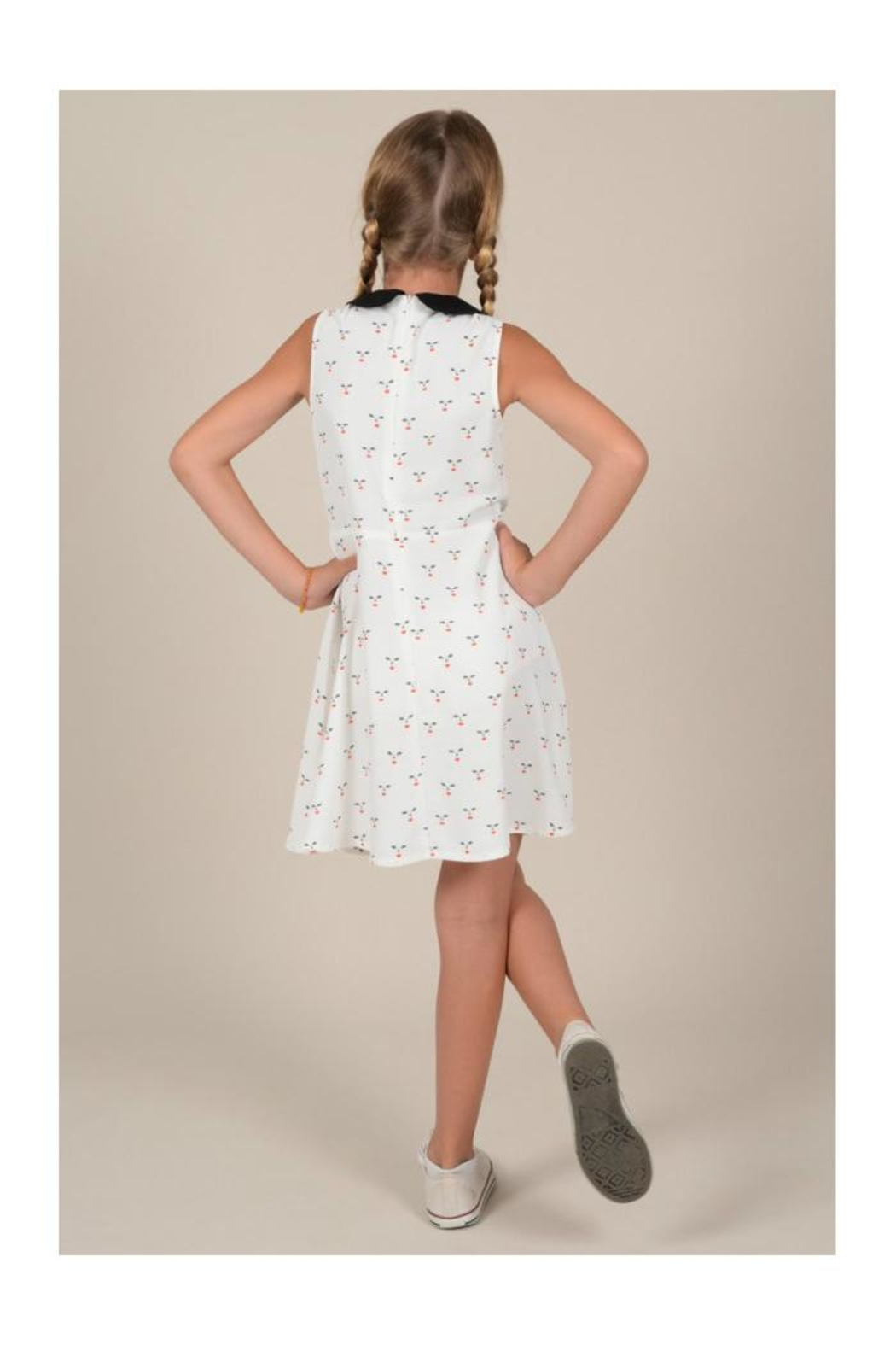 Mini Molly Cherry A-Line Dress - Back Cropped Image