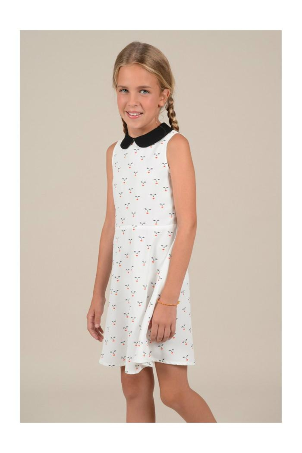 Mini Molly Cherry A-Line Dress - Side Cropped Image