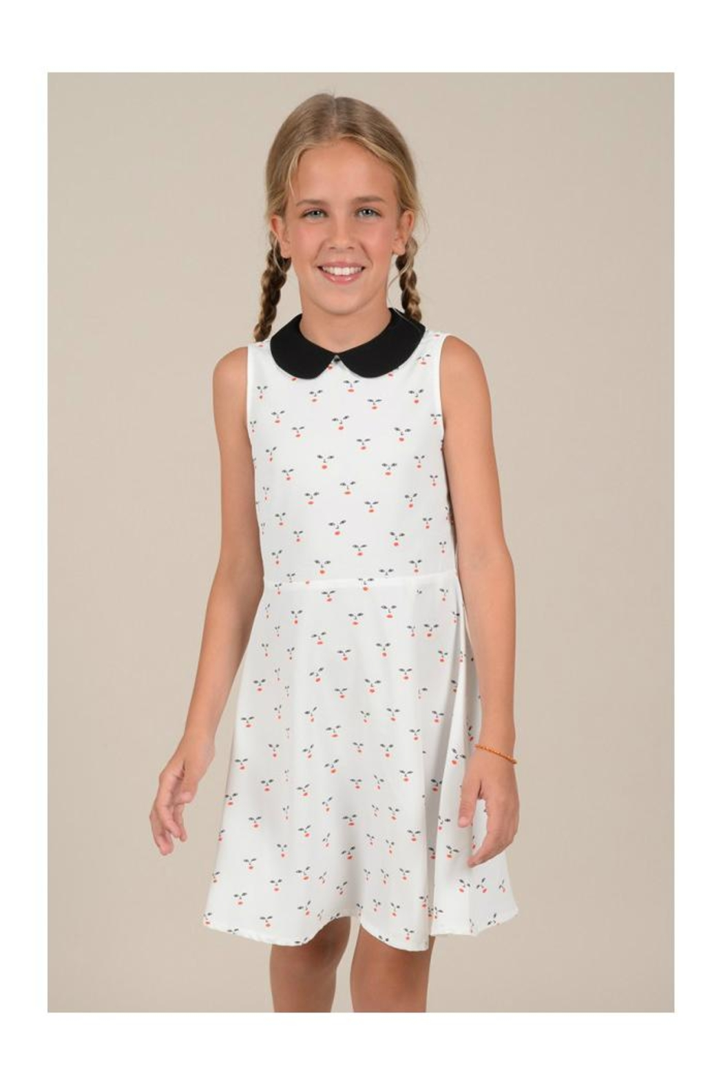 Mini Molly Cherry A-Line Dress - Front Full Image