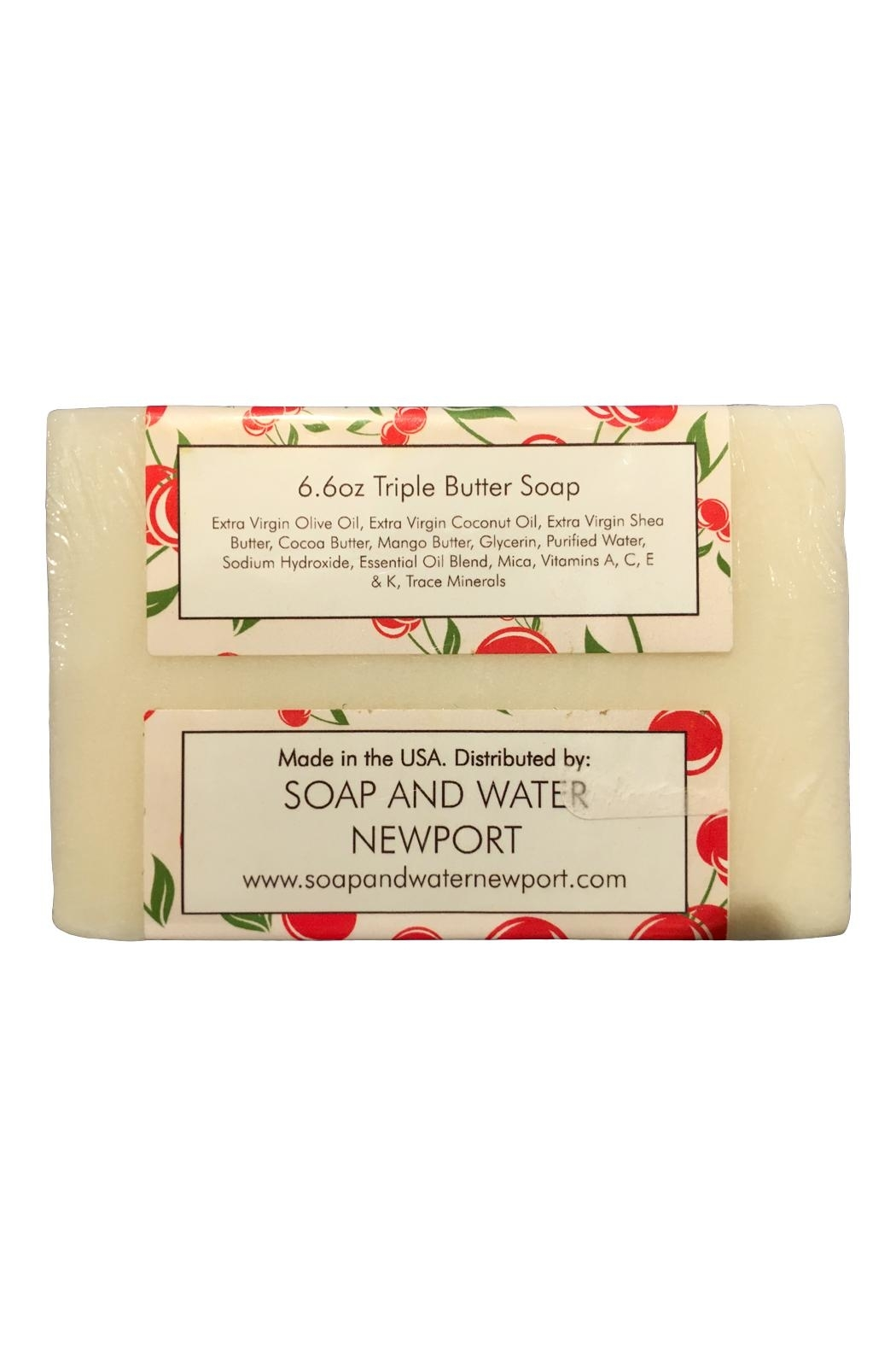 Soap and Water Newport Cherry Almond Barsoap - Front Full Image