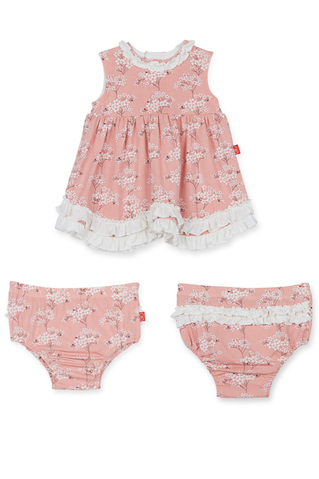 Magnetic Me Cherry Blossom Modal Dress/Diaper Cover - Front Cropped Image