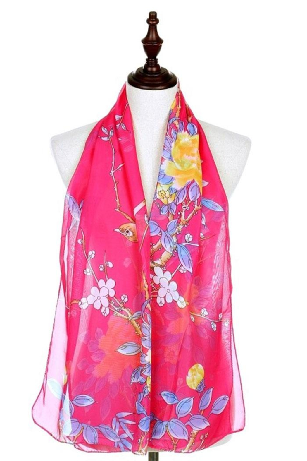 Nadya's Closet Cherry Blossom Scarf - Front Cropped Image