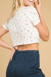 Wild Honey Cherry Crop Tee - Front full body