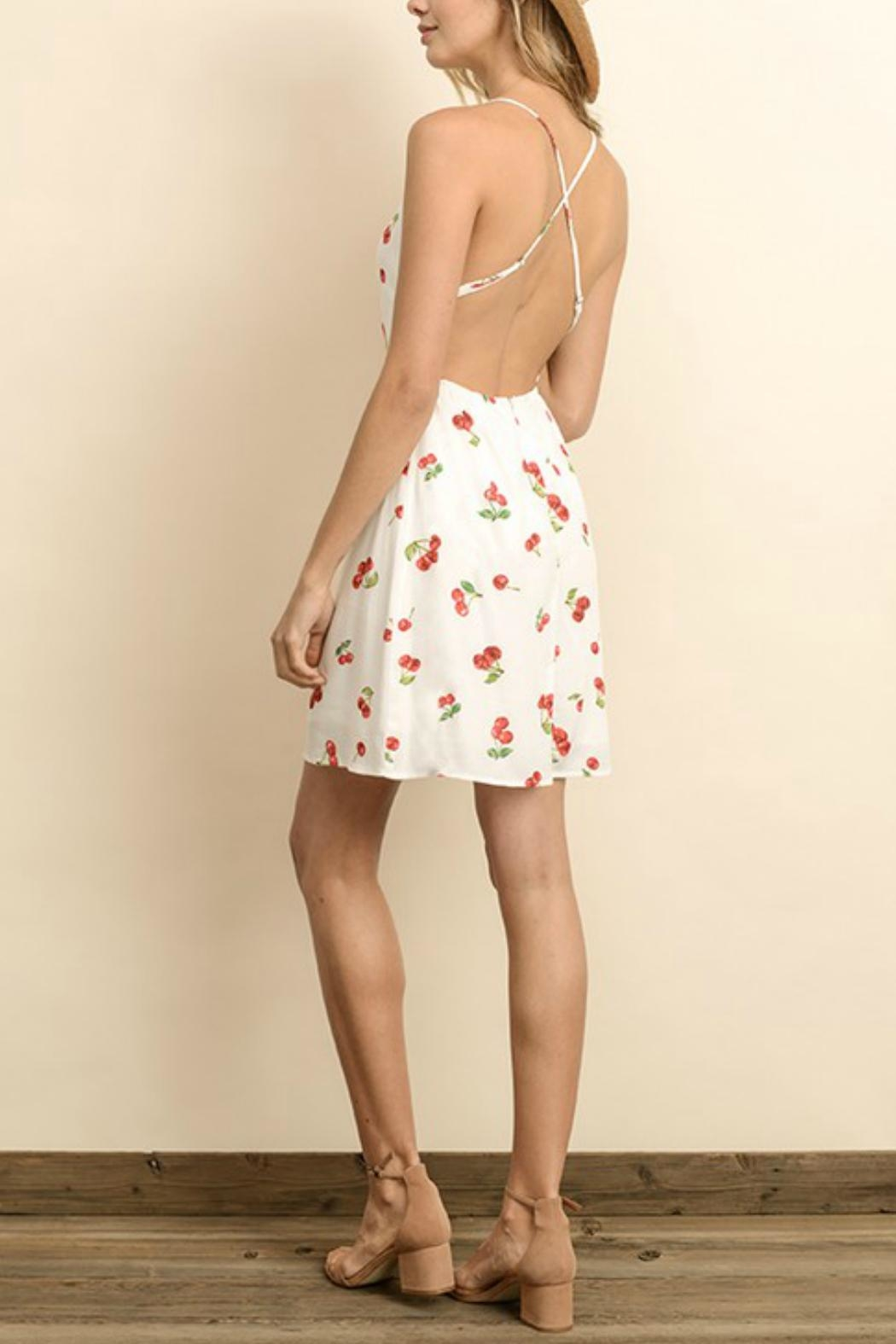 dress forum Cherry Cross-Back Dress - Back Cropped Image