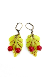 GHome2 Cherry Leaf Earrings - Product Mini Image