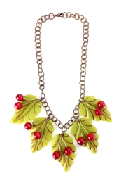 1930s Jewelry | Art Deco Style Jewelry Cherry Leaves Necklace $145.00 AT vintagedancer.com