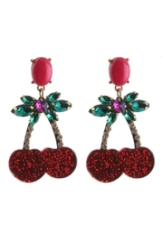 Madison Avenue Accessories Cherry Red Earring - Product Mini Image