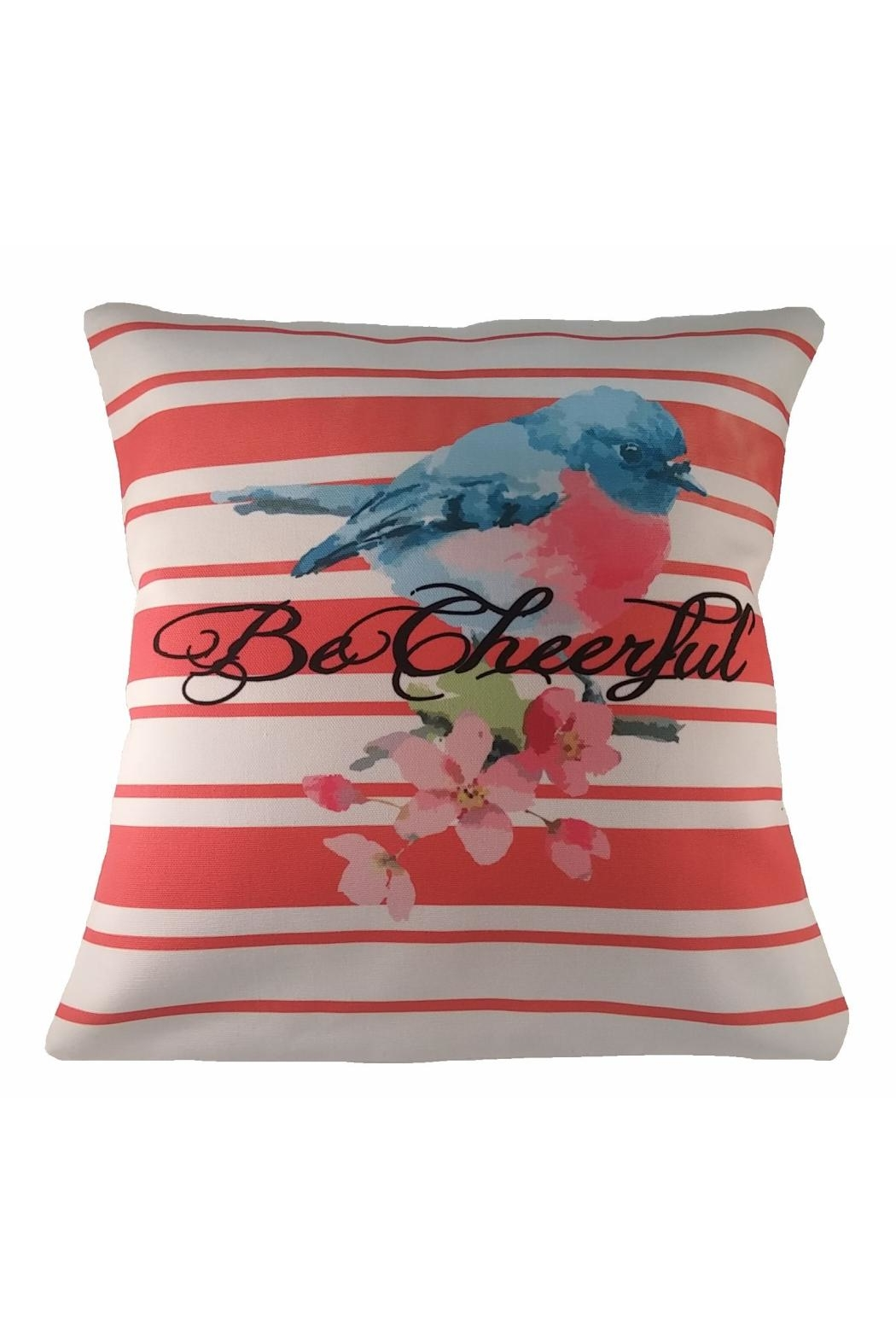 Cherry's Delight Bird and Flower Pillow - Main Image