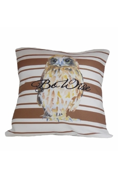 Shoptiques Product: Be Wise Owl Pillow