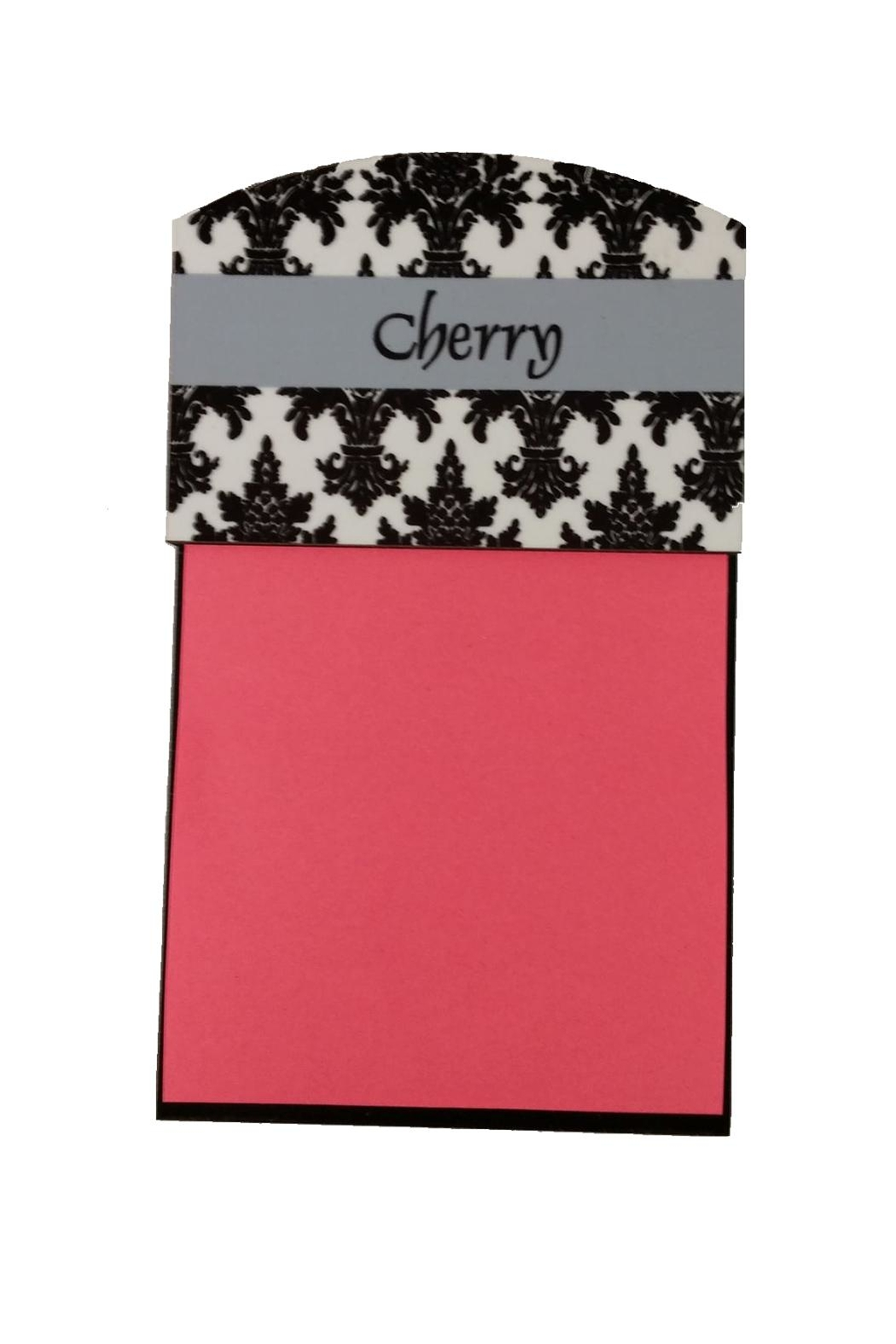 Cherry's Delight Personalized Post It Holder - Main Image