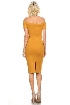 Shoptiques Product: Mustard Off Shoulder Dress